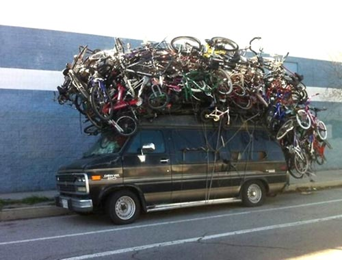 Overkill Stacked Bicycle Roof Rack