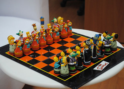 Simpsons Chess Board  Funny Bizarre Amazing Pictures  Videos