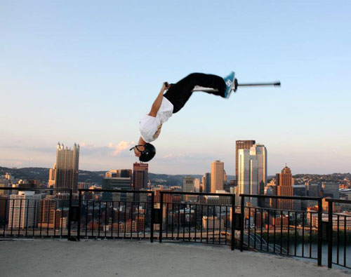 Extreme Pogo Jumping  Funny Bizarre Amazing Pictures