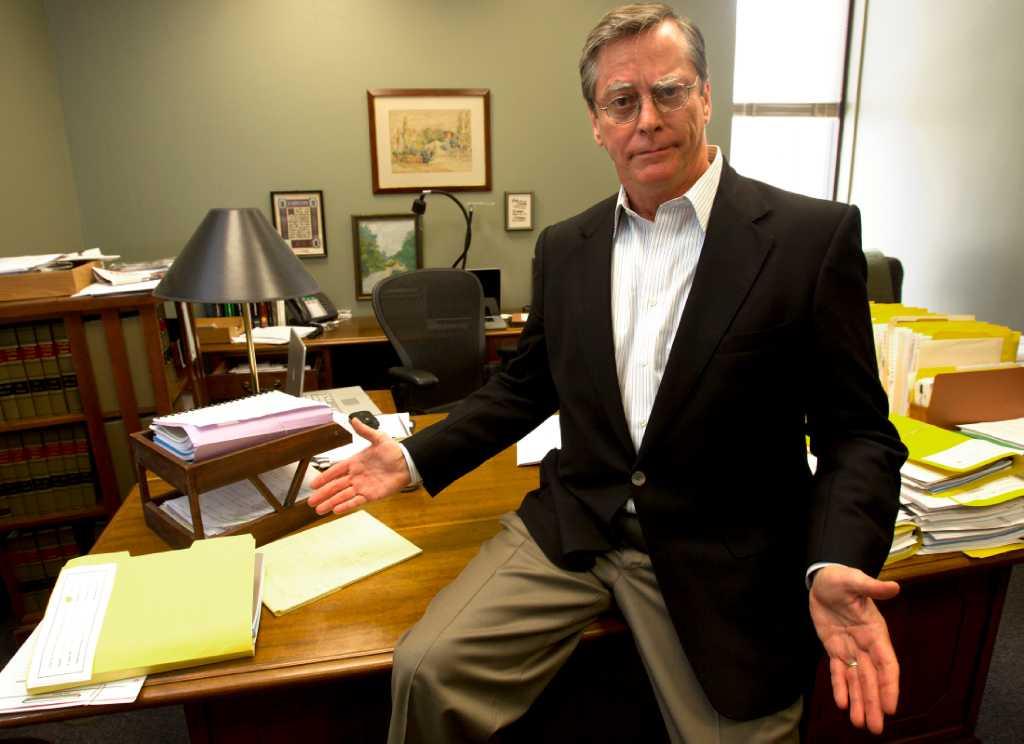 Harris County reclaims judges antique desk  Houston