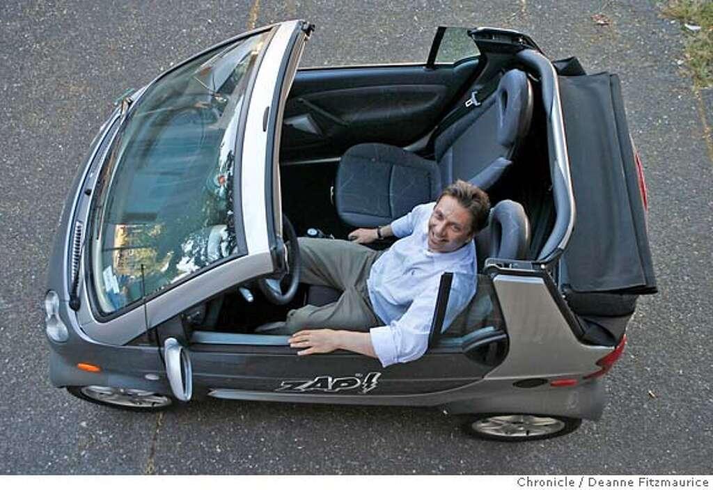 Sixt rental car franchisee Steve Schneider in a 2006 Smart Car