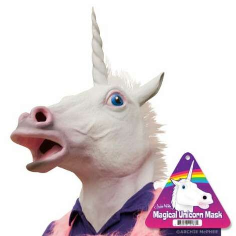 MAGICAL UNICORN MASK: I think it's safe to say there is nothing magical about this mask. It's terrifying at best. (View on Amazon.) / SL