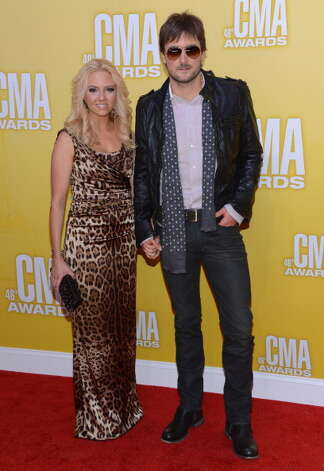 Eric Church (R) and Katherine Blasingame attend the 46th annual CMA Awards at the Bridgestone Arena on November 1, 2012 in Nashville, Tennessee. Photo: Jason Kempin, Getty Images / 2012 Getty Images