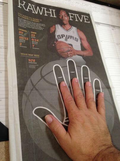 Spurs Kawhi Leonards Hand Measures 975 Inches Long