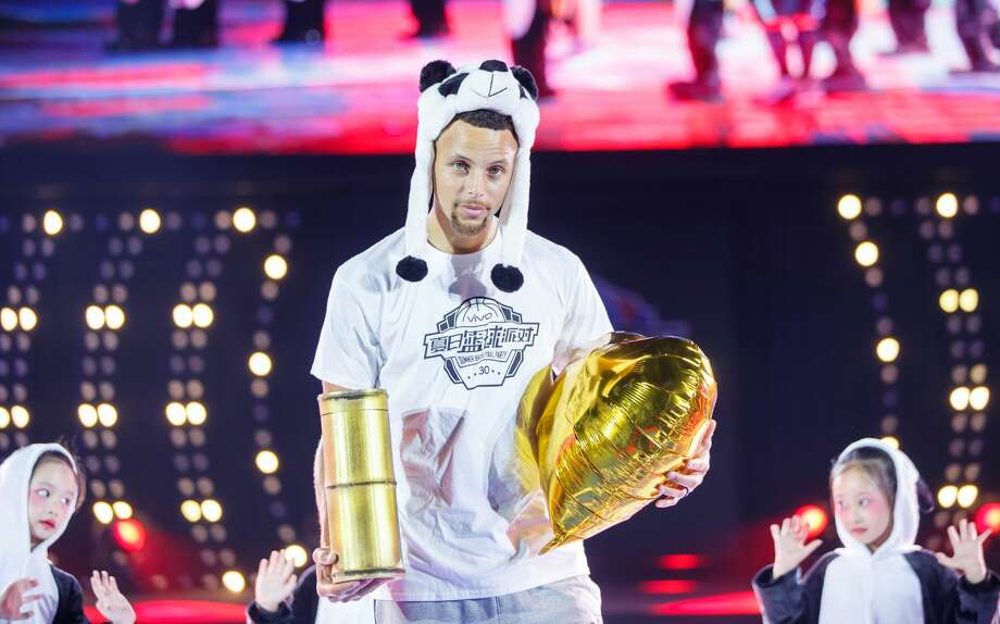 NBA player Stephen Curry attends a commercial event on July 23, 2017 in Chengdu, Sichuan Province of China.  (Photo by VCG/VCG via Getty Images) Photo: VCG/VCG Via Getty Images