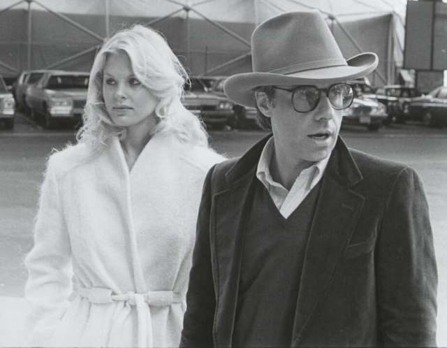 Director Peter Bogdanovich speaking to girlfriend, former Playboy playmate and actress Dorothy Stratten, on location of their film 'They All Laughed', 1980. Photo: Time & Life Pictures/The LIFE Picture Collection/Gett