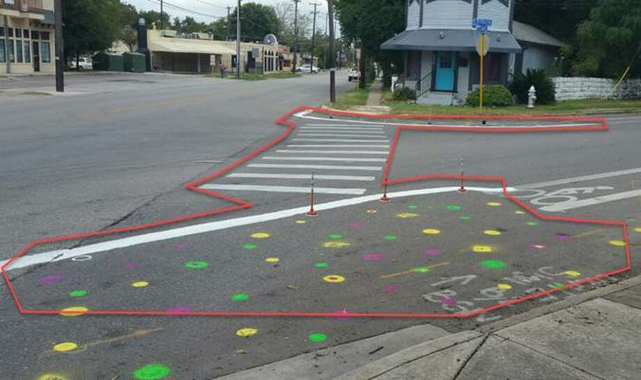 Paint and toilet plungers make for tactical urbanism in San Antonio. Photo: City Of San Antonio
