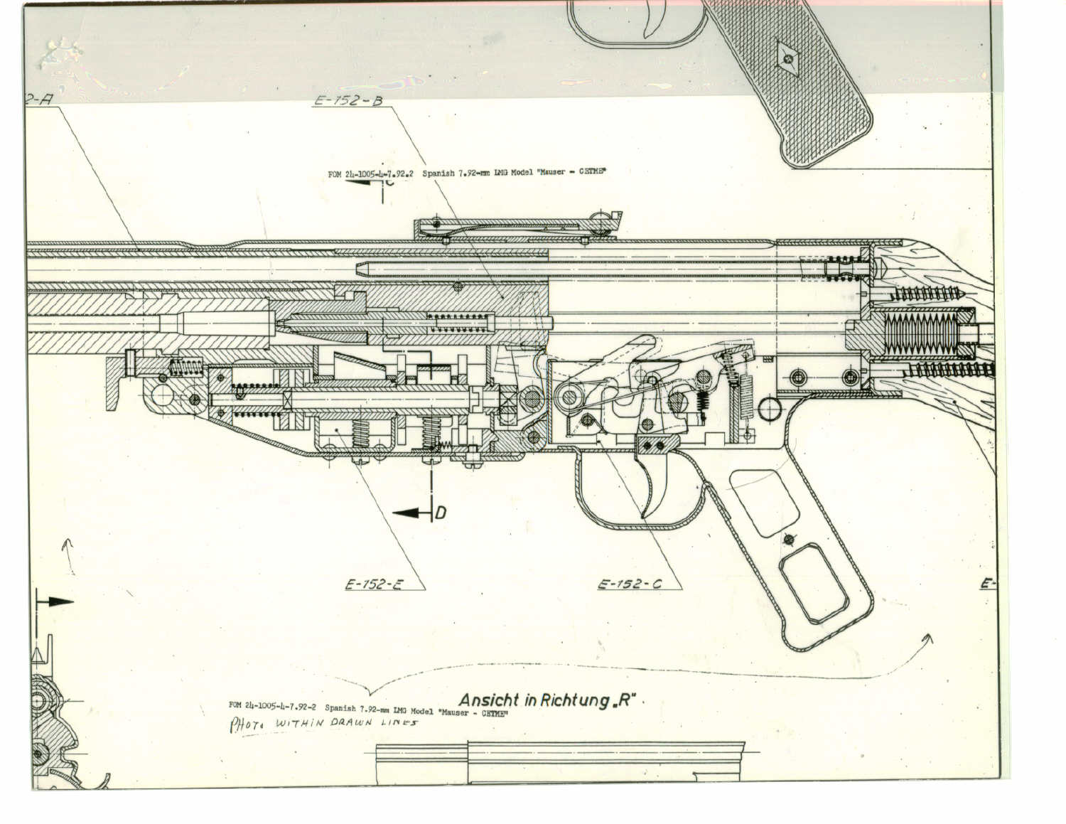 hight resolution of records of the springfield armory records of the research and engineering division spanish 7 62mm light machine gun model mauser cetme