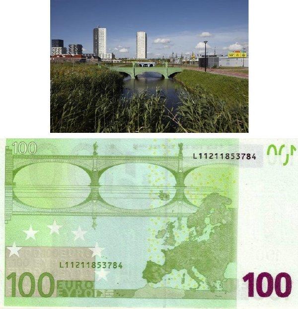 新版歐元的橋梁設計很漂亮,某建築師把它們都建成真的