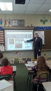 Representative John Fritz visited students at Robert D. Wilson Elementary in June