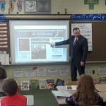Representative John Fritz visited students at Robert D. Wilson Elementary in June