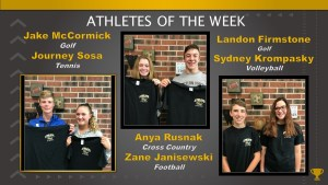 Athletes of the Week – August 20, 27, and September 3