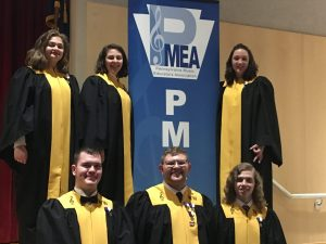 Western Wayne students participate in the 2019 PMEA District Chorus festival.