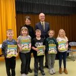 Robert D. Wilson third grade students receives dictionaries -Wayne County Community Foundation