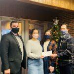 Western Wayne FCCLA Presents Check to The Wayne County Children's Christmas Bureau