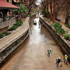 Youth Folding Chair Menards Outdoor Lounge Chairs The San Antonio River Was Drained For Maintenance From Josephine Street To Alamo Jan. 6 ...