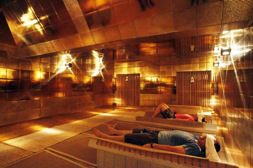 Dont Miss The Golden Pyramid Dry Sauna At Spa Castle