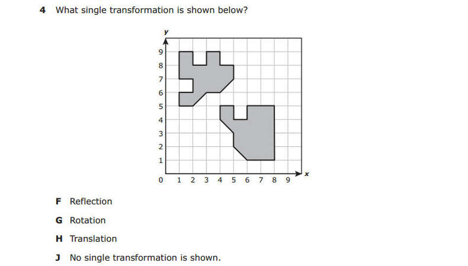 This question was taken from the fifth grade math section