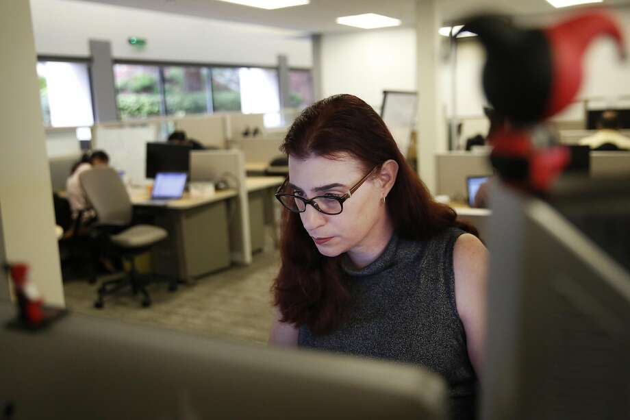 Transgender woman Billie Lynn Ross is a deployment engineer at SAP in Palo Alto. Photo: Leah Millis, The Chronicle