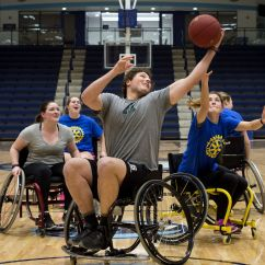 Wheelchair Olympics Grey Dining Chair Four On Basketball Tournament Midland