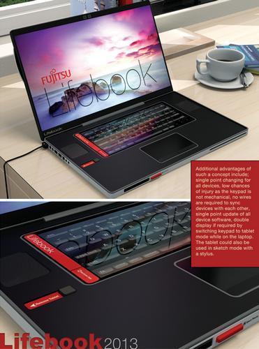概念设计:与笔记本合二为一的手机