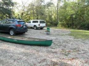 300x225 small parking area at the top of Jennings Bluff, in Alapaha, by Bret Wagenhorst, 1 September 2014