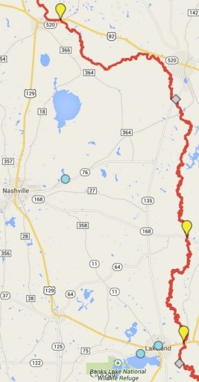 356x686 ARWT North, in Alapaha River Water Trail draft map, by John S. Quarterman, for WWALS.net, 7 November 2014