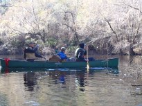 2048x1536 Bret Wagenhorst, Chris Graham, in Alapaha River at Statenville, January 2014 WWALS Outing, by Gretchen Quarterman, 18 January 2014