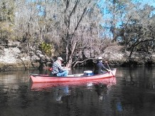 640x480 Dan and Shirley, in Statenville to Sasser Landing on the Alapaha River, by John S. Quarterman, for WWALS.net, 15 February 2015