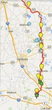261x555 ARWT, in Alapaha River Water Trail draft map, by John S. Quarterman, for WWALS.net, 7 November 2014