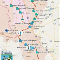 Map of Withlacoochee River Water Trail