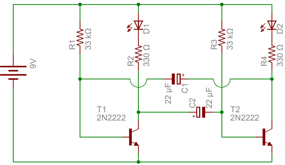 medium resolution of flashing led circuit diagram