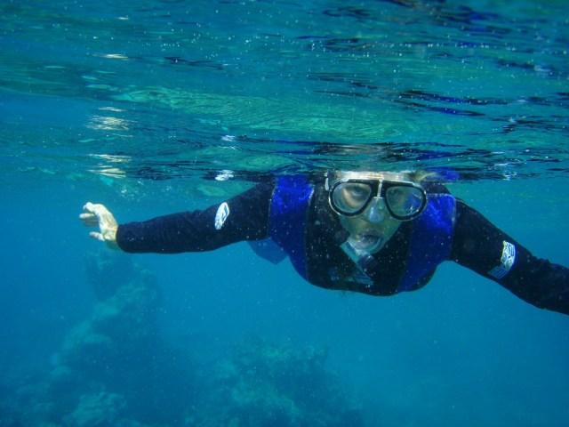 Ali snorkelling