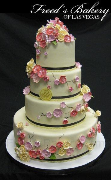 1280355702058 IvoryCherryBlossom Las Vegas Wedding Cake