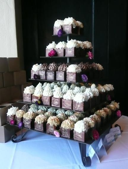 Cupcake Squared Wedding Cake San Diego CA WeddingWire