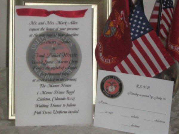 Military Wedding Invitations  Fort Lauderdale FL Wedding