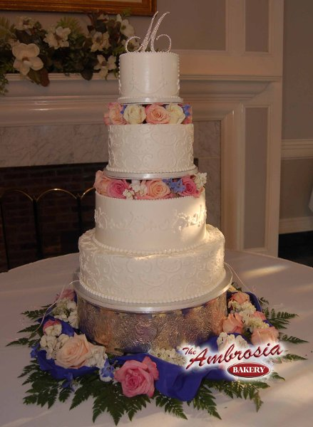 The Ambrosia Bakery  Baton Rouge LA Wedding Cake