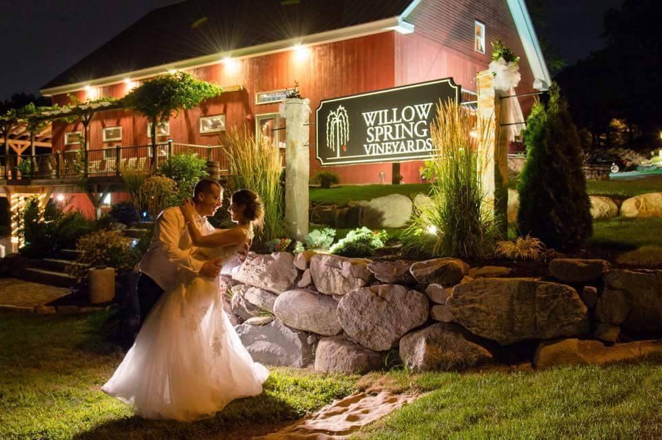 Willow Spring Vineyards Wedding Ceremony  Reception Venue Massachusetts  Boston Watertown