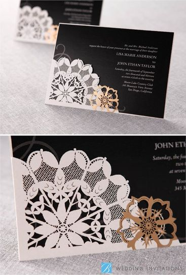 B Wedding Invitations  Invitations  Torrance CA  WeddingWire