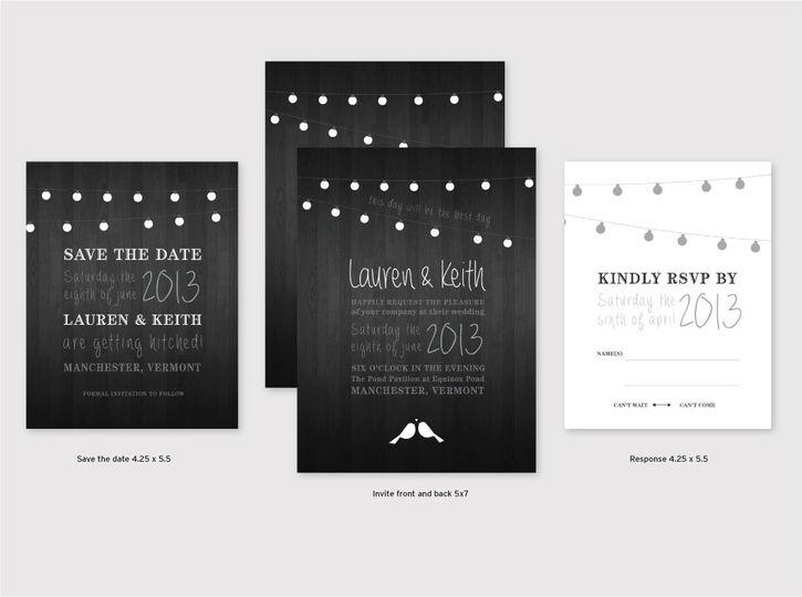 Backyard Wedding Lights Graphic