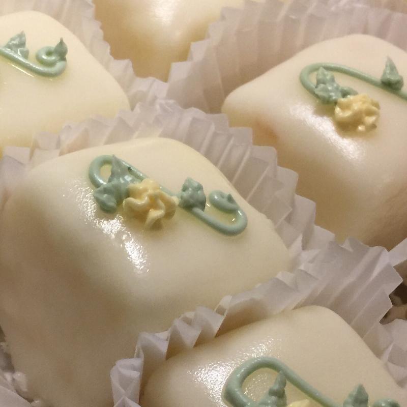 Petit Fours Yall Wedding Cake GA WeddingWire