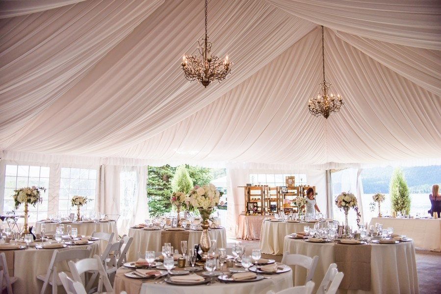 Classic Romantic Ivory Pink Country Indoor Reception
