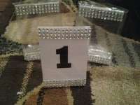 DIY TABLE NUMBER HOLDERS | Weddings, Style and Decor, Fun ...
