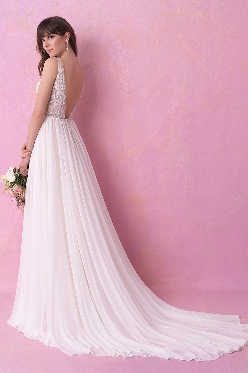 3166 Aline Wedding Dress by Allure Romance  WeddingWirecom