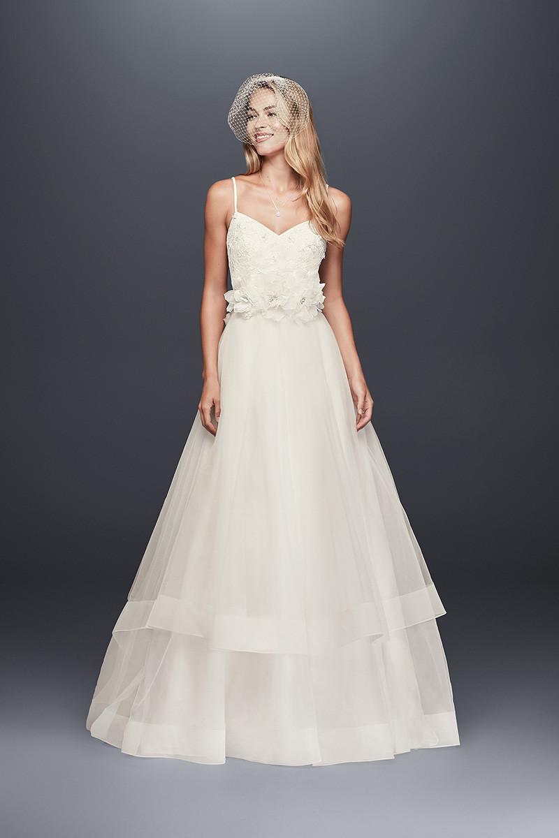 Galina Wg3890 Ball Gown Wedding Dress By David S Bridal Weddingwire Com