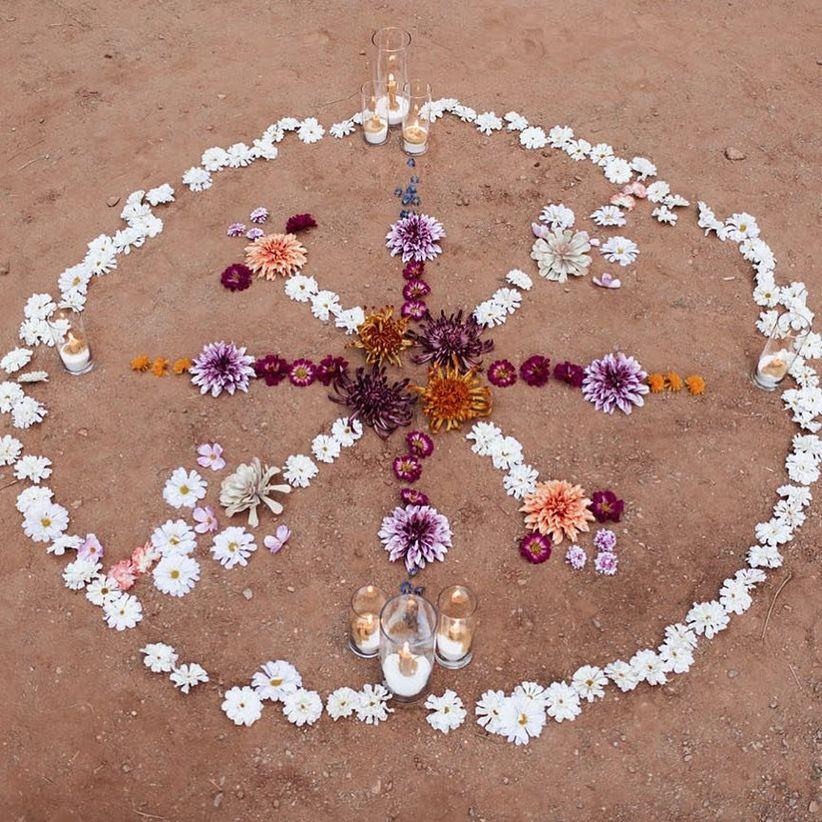цветок мандалы для богемной свадьбы