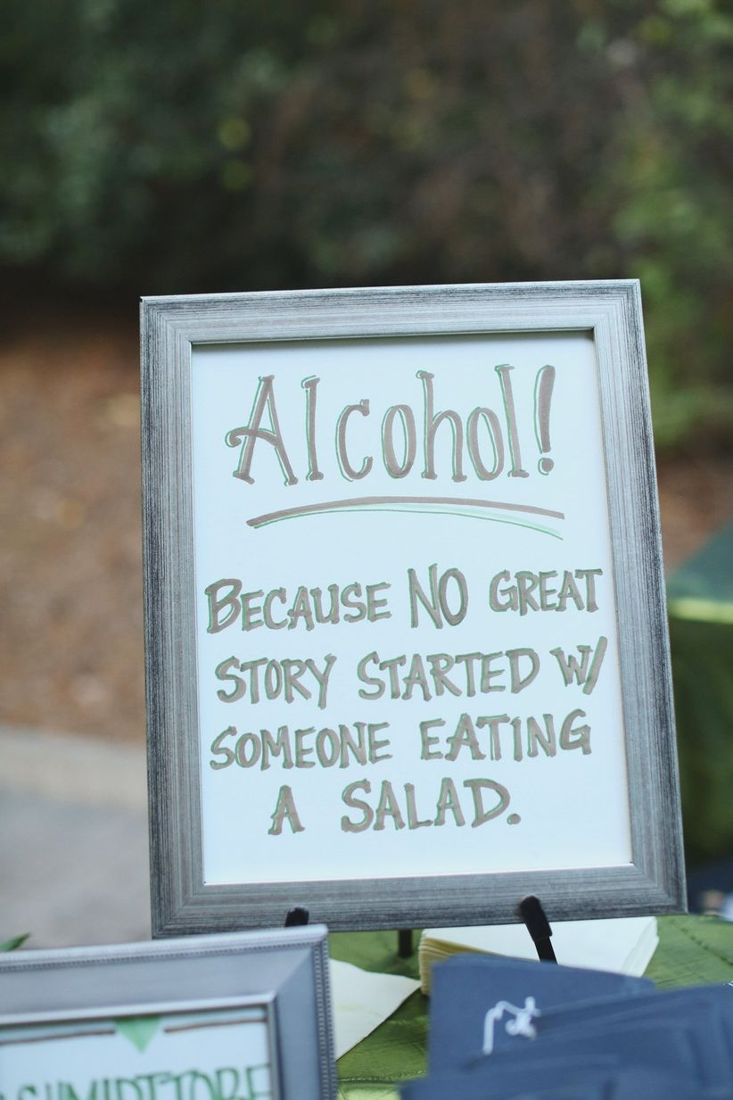 15 Funny Wedding Signs That Will Make Your Guests LOL  WeddingWire