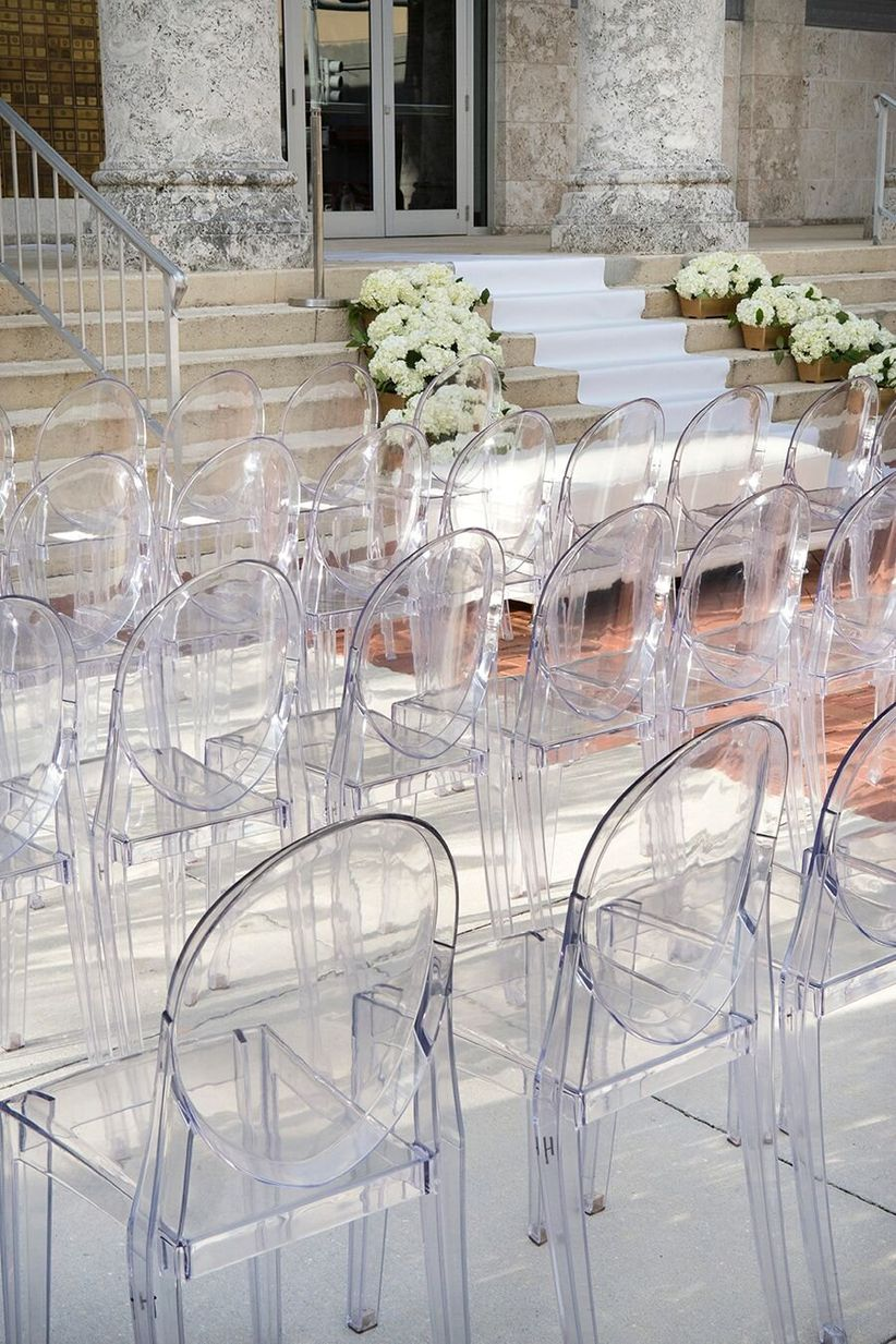 acrylic folding chairs hawaii chair price 13 types of wedding for a stylish big day - weddingwire