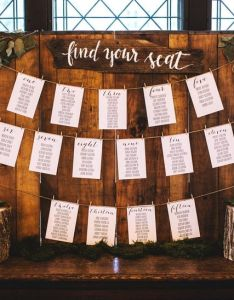 Wooden wedding seating chart also how to make  weddingwire rh