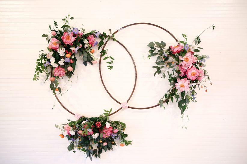 цветочный свадебный обруч